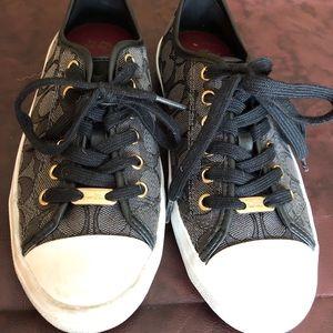 Coach empire black signature sneakers